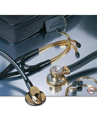 ADC Adscope Gold Plated Edition Cardiology Stethoscope-Black