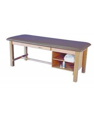 Armedica Hardwood Maple Treat. Table w/Drawer and Adj. Shelf AM-608