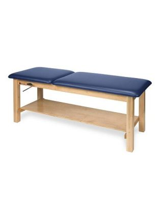 Armedica Hardwood Treat. Table w/Plain Shelf and Adj. Backrest AM-616