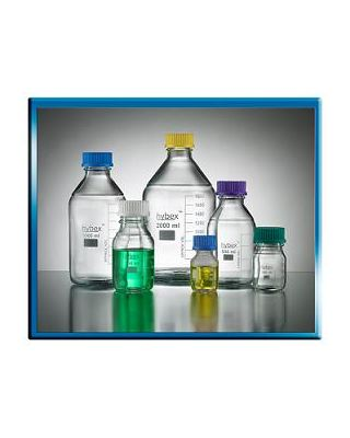Benchmark Scientific Bottle, 2000Ml w/ Blue Cap (Gl45) 5/Pk., B3000-2000-B