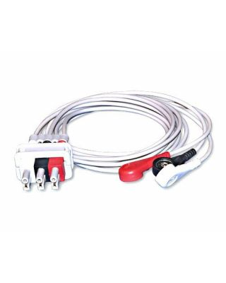 Bionet Snap Type 3 Lead ECG Cable