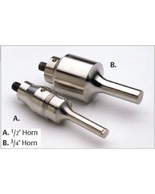 "Branson Ultrasonic Dual disruptor horn has (2) 3/4"" horns, 109-116-1441"
