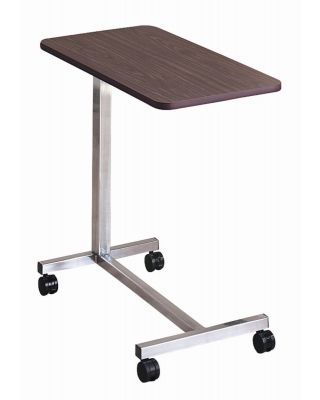 "Brewer Overbed Table,""H"" Base,Walnut,BRE-11610"