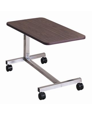 "Brewer Low Height Overbed Table,""H"" Base,Walnut,BRE-11640"