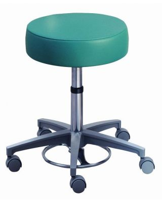"""Brewer Foot Operated Stool 16"""" round Seat Height adjustment 21340"""