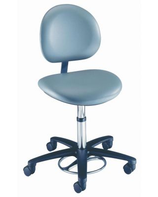 """Brewer Foot Operated Stool 18"""" Contour Seat Height adjustment 21340B"""