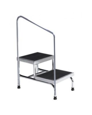 Brewer Heavy-duty Two-Step Step Stool w/ Hrail 600# capacity 31220