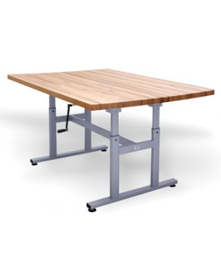 Hausmann Models 4325 Deluxe Crank Butcher Block Work Tables