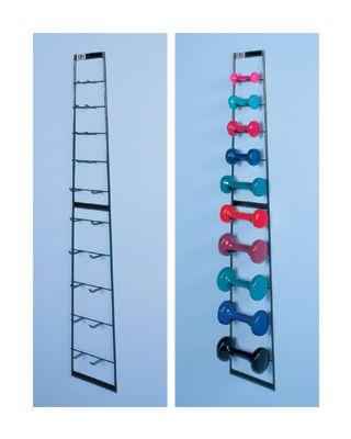 Hausmann Model 5555-100 Economy Wall Dumbbell Rack