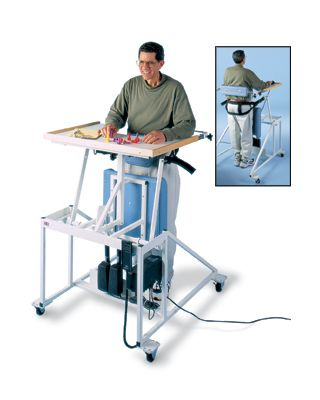 Hausmann Model 6175 Hi-Lo Econo-Line Stand-In Table with Electric Patient Lift