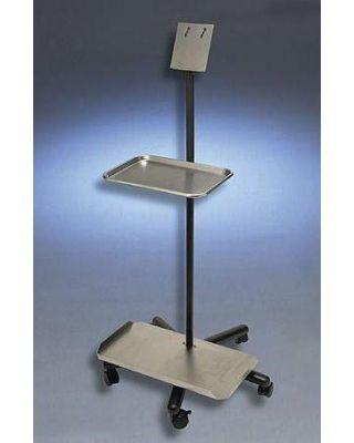 """Aaron Bovie Mobile Stand w/Top Tray, Bottom Tray, Clamp and 12"""" Height Extension, A812-C"""