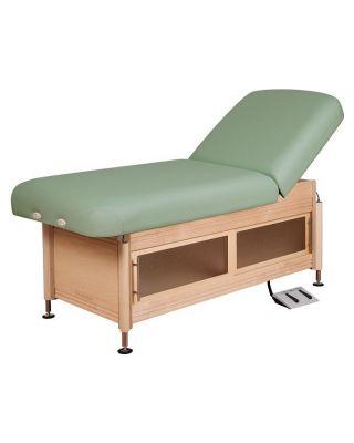 Oakworks Clinician Electric-Hydraulic Lift-assist backrest Top Table