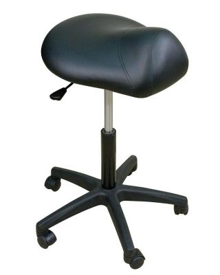Oakworks Premium Stool w/ Saddle Seat-Low Height Range