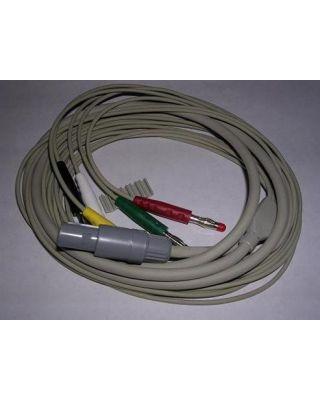 SCHILLER 5-lead Patient cable AHA w clip Miniscope MS-3 SCH-2.400061