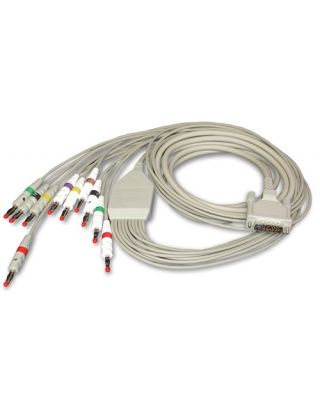 SCHILLER Resting Patient Cable 10-lead w banana plug SCH-2.400071