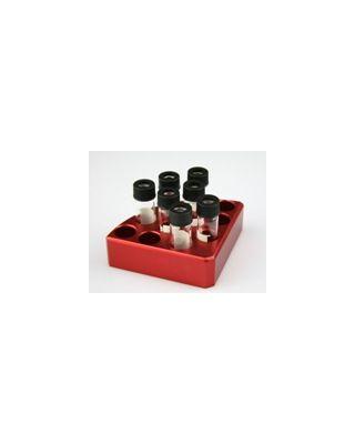 SCILOGEX - Red quarter reaction block,11 holes 4 ml reaction vessel 15.2mm dia x 20mm depth,18900002