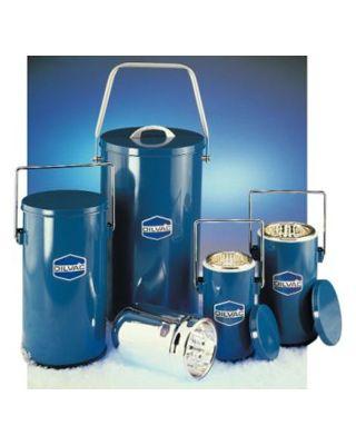 SCILOGEX 2Ltr. Blue Enameled Cased Dewar Flask w/ Handle 7 Lid,MS222