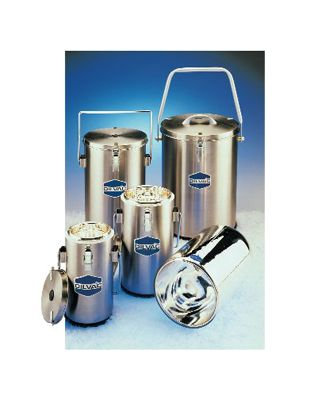 SCILOGEX - 1Ltr. Stainless Steel Cased Dewar Flask with LidcLips and Handle,SS111