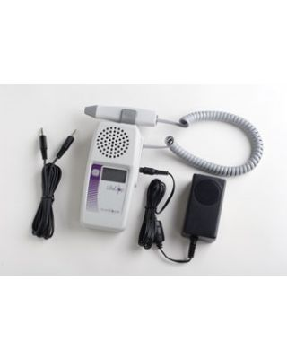 Summit LifeDop Displayed Handheld Fetal Doppler w/Recharger and Audio Recorder,L250AR